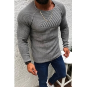 Lovely Casual Ruffle Design Grey Sweater