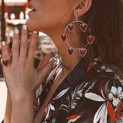 Lovely Vintage Heart Alloy Earring