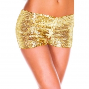 Lovely Sexy Print Gold Yellow Panties