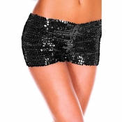Lovely Sexy Print Black Panties