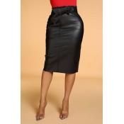 Lovely Trendy Skinny Black Skirt