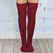 Lovely Chic Winter Red Long Socks