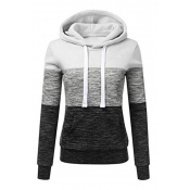 Lovely Casual Hooded Collar Patchwork White Hoodie