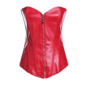 Lovely Chic Basic Zipper Design Red Intimates Acce