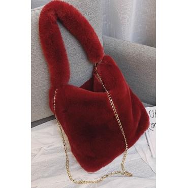 Lovely Chic Wine Red Messenger Bag