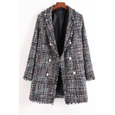 Lovely Casual Buttons Multicolor Blazer
