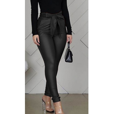 Lovely Trendy Drawstring Black Pants