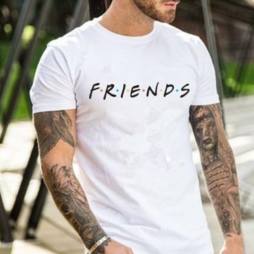 Lovely Casual Letter White Shirt