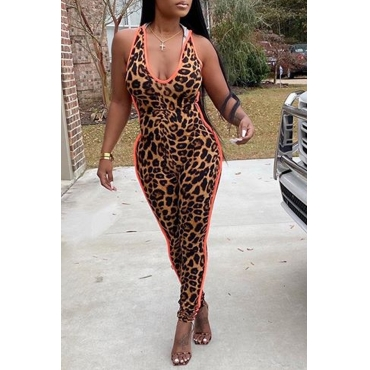 Lovely Trendy Leopard One-piece Jumpsuit