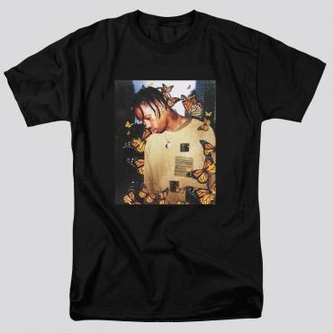 Lovely Leisure Figure Print Basic Black T-shirt