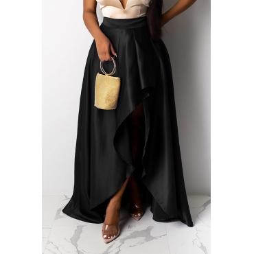 Lovely Work Asymmetrical Black Skirt