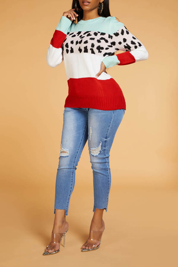 Lovely Leisure Patchwork Mulicolor Sweater