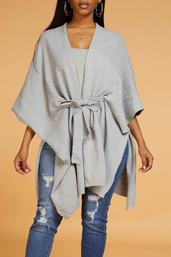 Lovely Leisure Loose Grey Sweater