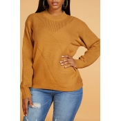 Lovely Leisure Basic Khaki Sweater