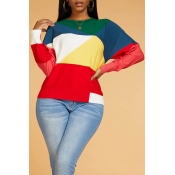Lovely Stylish Color-lump Patchwork Multicolor Swe