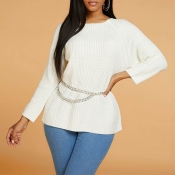 Lovely Leisure Basic White Sweater