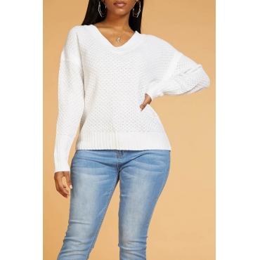 Lovely Chic Basic White Sweater