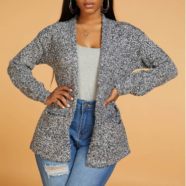 Lovely Chic Basic Dark Grey Cardigan