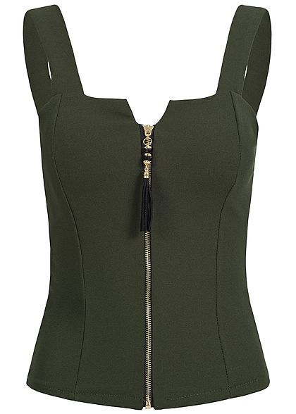 Lovely Trendy Spaghetti Strap Basic Army Green Plus Size Camisole