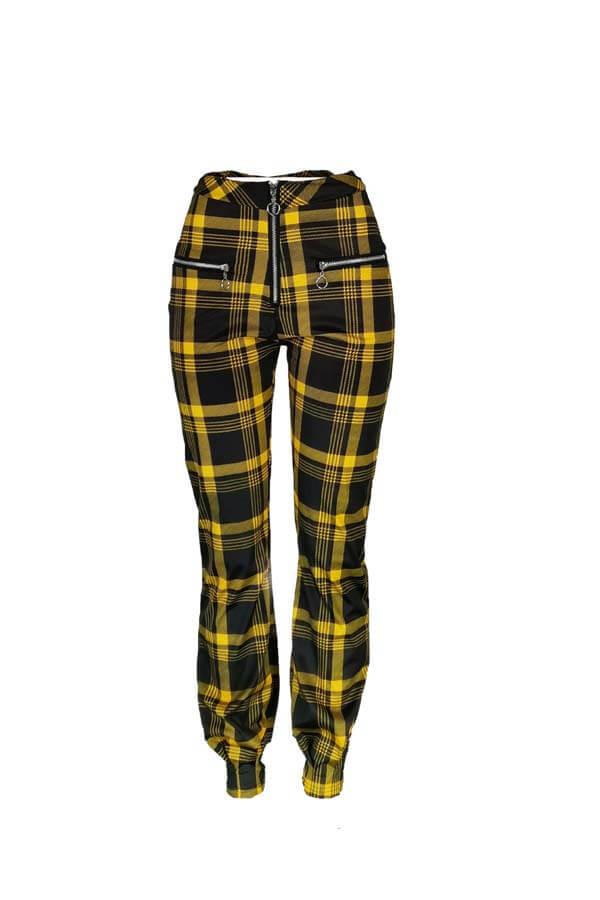 Lovely Trendy Print Yellow Pants