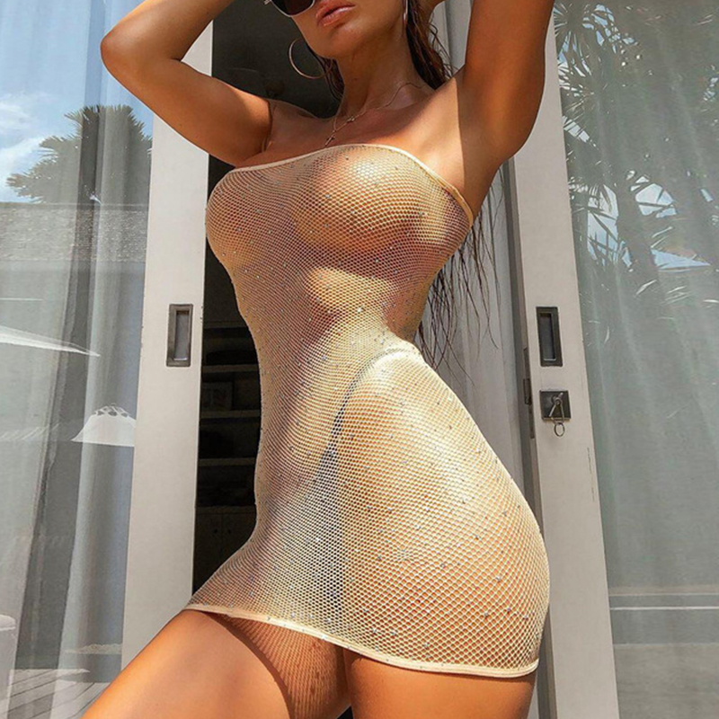 Lovely Sexy See-through Brown Teddies