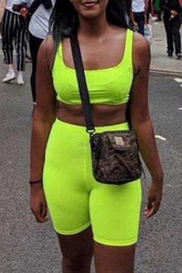Lovely Sportswear Skinny Green Shorts