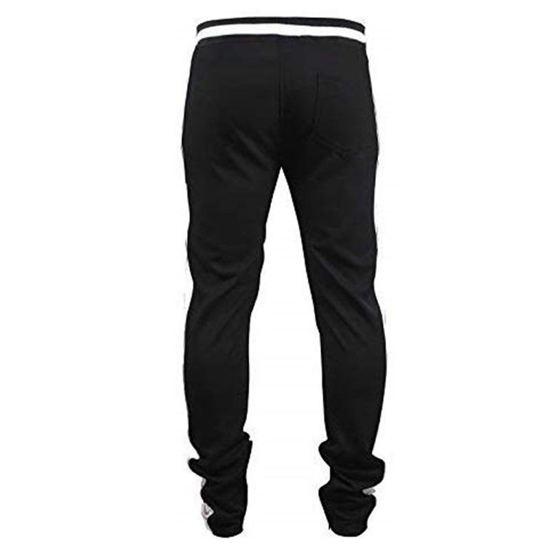 Lovely Sportswear Patchwork Black And White Pants