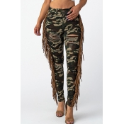 Lovely Chic Camouflage Print Jeans