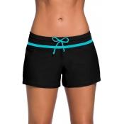 Lovely Casual Basic Black Bikini Bottom