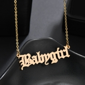 Lovely Bohemian Letter Gold Bracelet