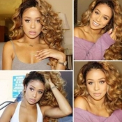 Lovely Casual Curly Brown Wigs