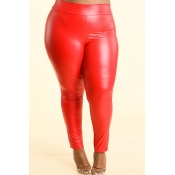 Lovely Sexy Skinny Red Plus Size Pants