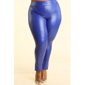 Lovely Sexy Skinny Blue Plus Size Pants