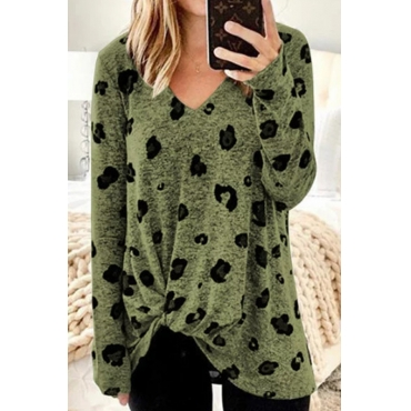 Lovely Casual Print Green Plus Size Hoodie
