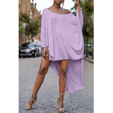 Lovely Casual  Loose Purple Blouse