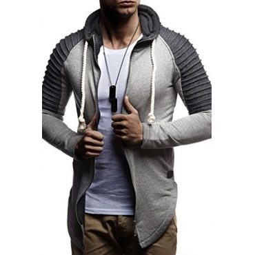 Lovely Casual Hooded Collar Grey Hoodie