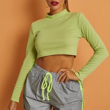 Lovely Casual Basic Green T-shirt