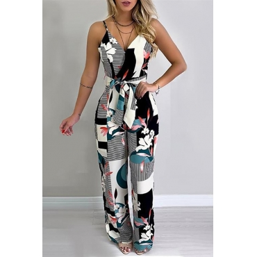Lovely Chic Print Multicolor One-piece Jumpsuit