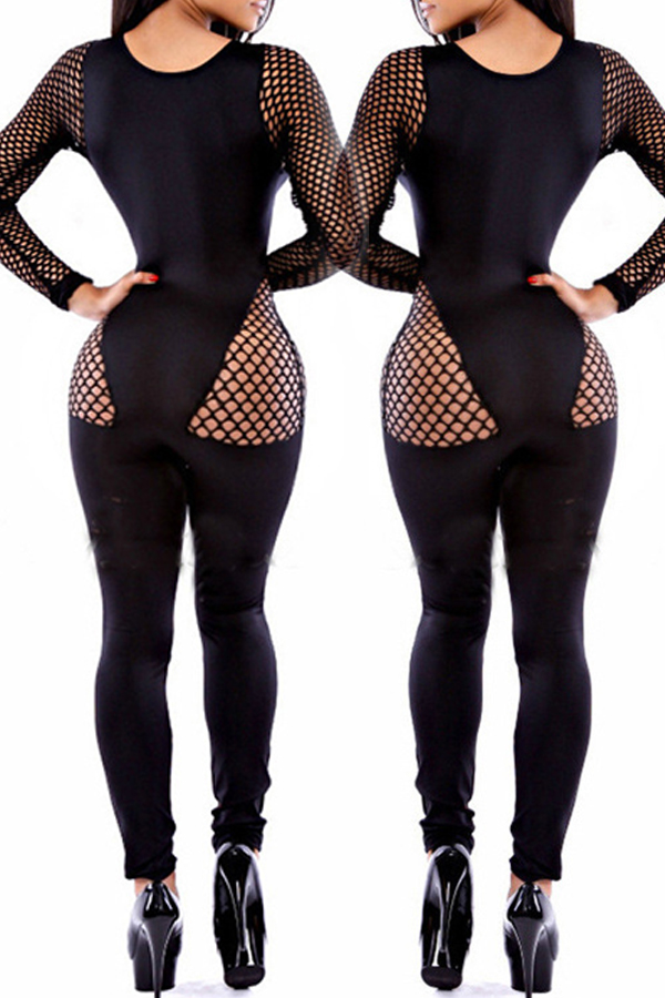 Jumpsuit Lovely Chic Hollow-out Black One-piece Jumpsuit