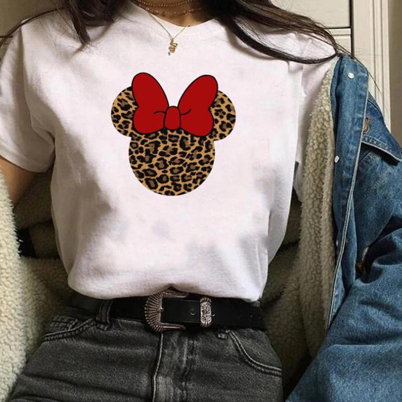 Lovely Casual O Neck Cartoon print White Plus Size T-shirt фото
