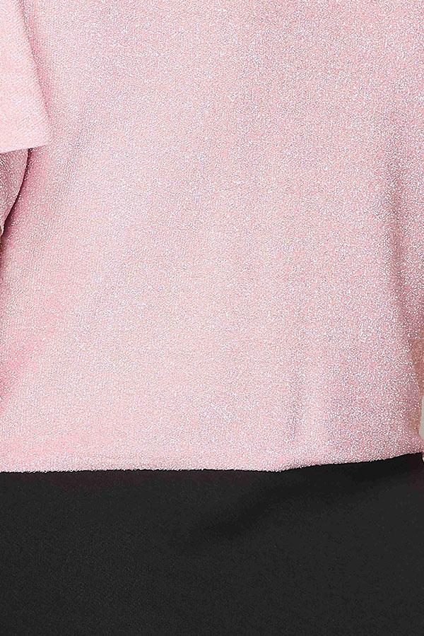 Lovely Leisure Deep V Neck Patchwork Pink Mid Calf