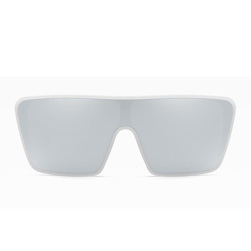 Lovely Chic Big Frame Design White Sunglasses