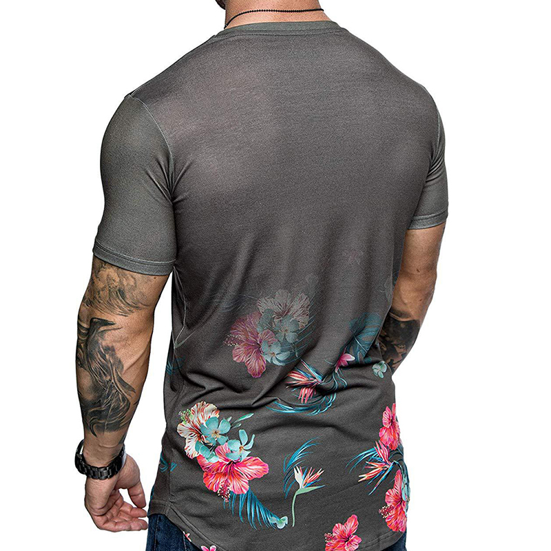 Lovely Casual Print Grey T-shirt
