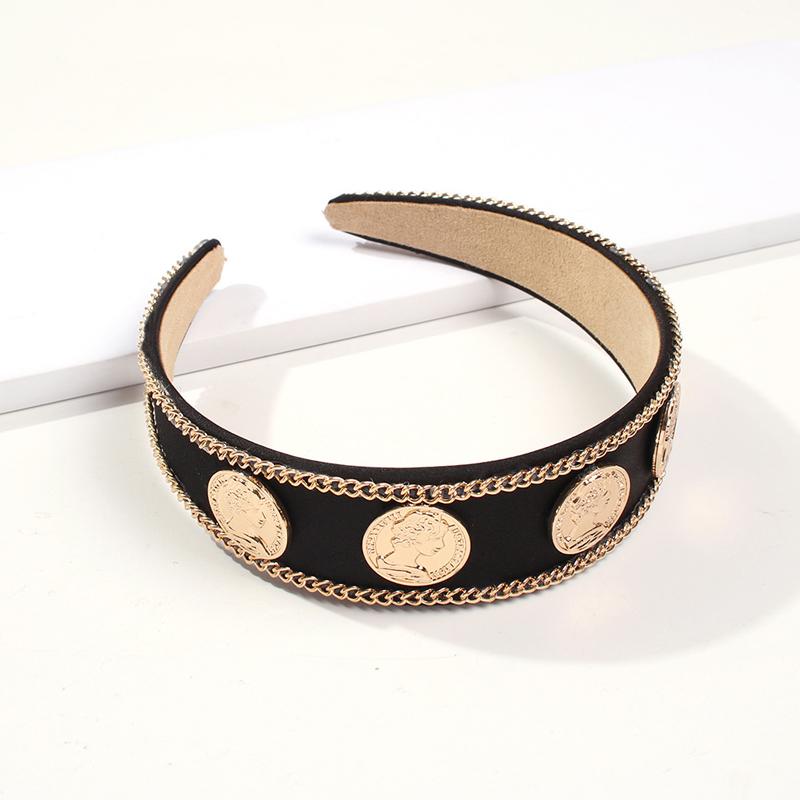 Lovely Stylish Patchwork Black Headband