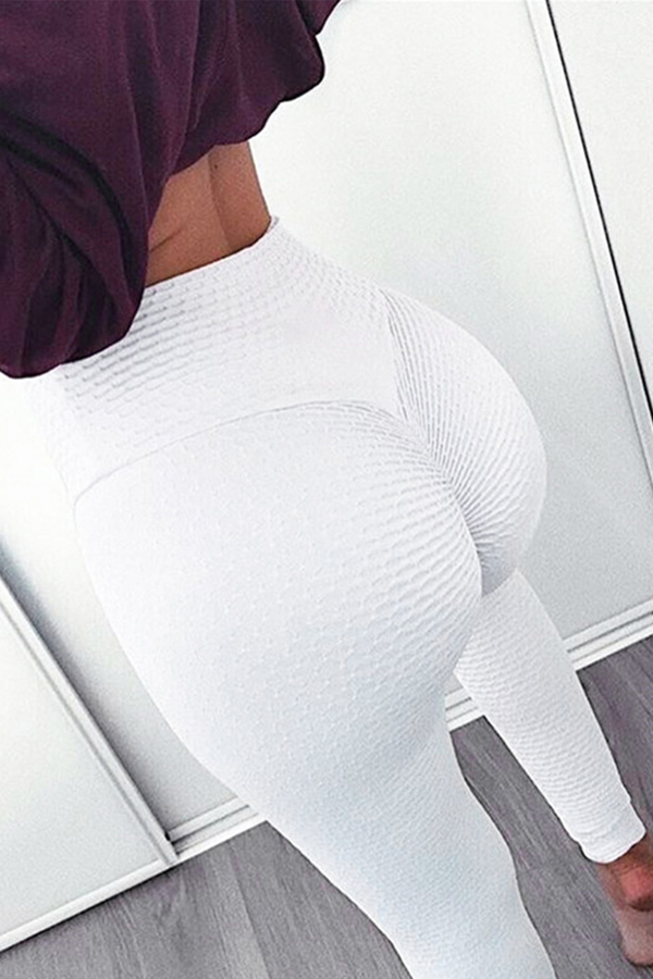 Lovely Sportswear Basic Skinny White Leggings