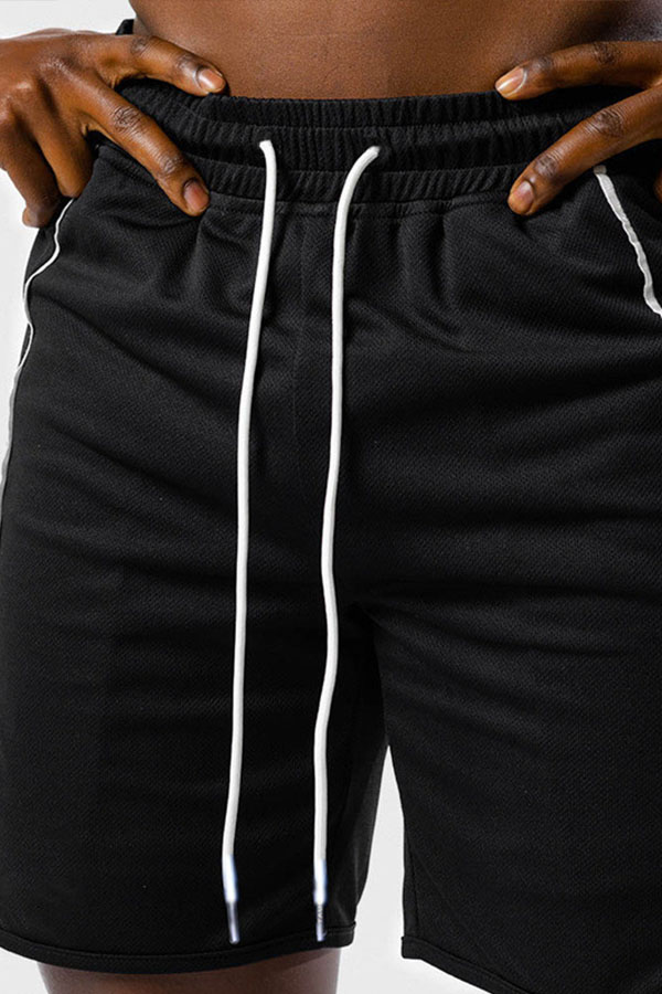 Lovely Sportswear Lace-up Black Shorts