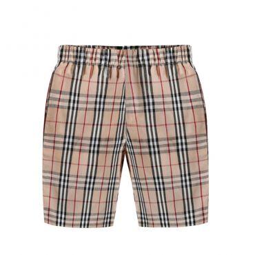 Lovely Chic Plaid Print Apricot Boys Shorts