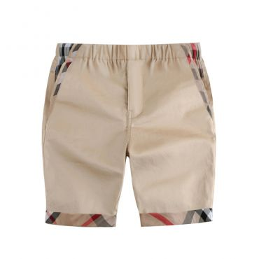 Lovely Casual Patchwork Khaki Boys Shorts