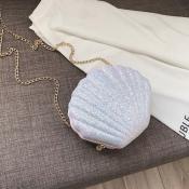 Lovely Trendy Shell White Crossbody Bag