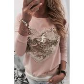 Lovely Sweet Heart Pink Sweatshirt Hoodie